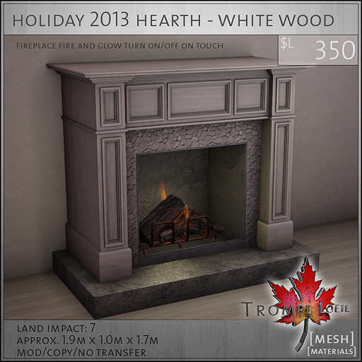holiday 2013 hearth white wood L350