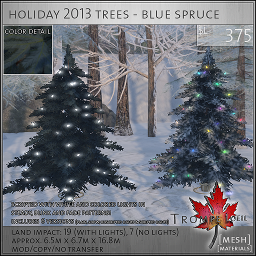 holiday 2013 trees blue spruce L375
