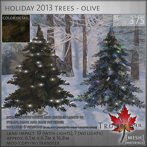holiday 2013 trees olive L375
