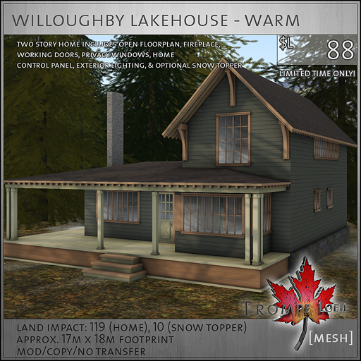willoughby lakehouse warm sales image L88