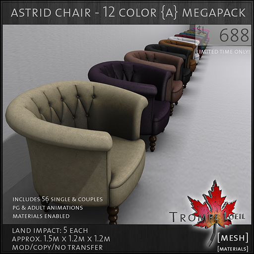 astrid chair Adult megapack L688