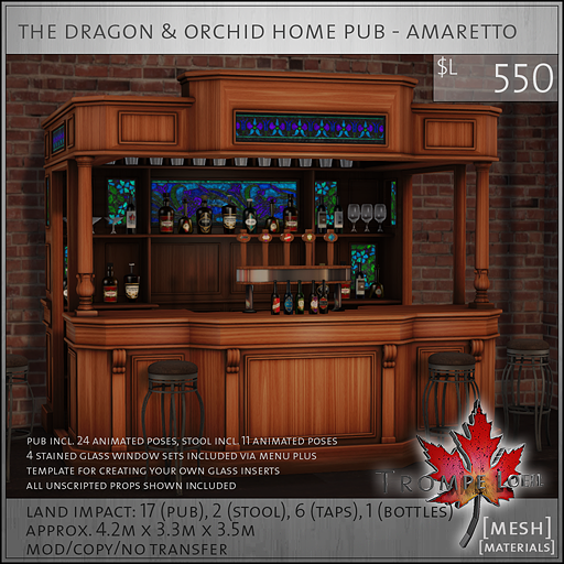 dragon and orchid home pub amaretto PG L550