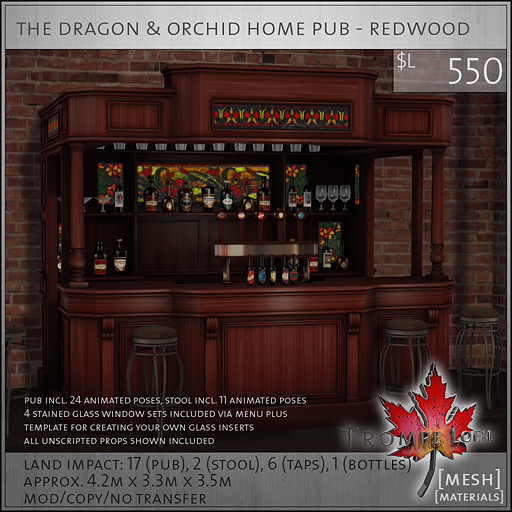dragon and orchid home pub redwood PG L550