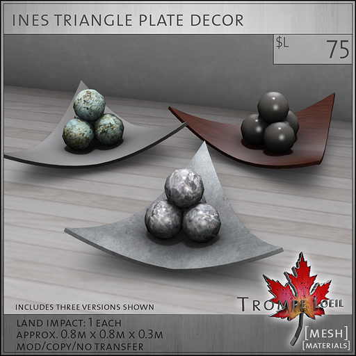 ines triangle plate decor L75