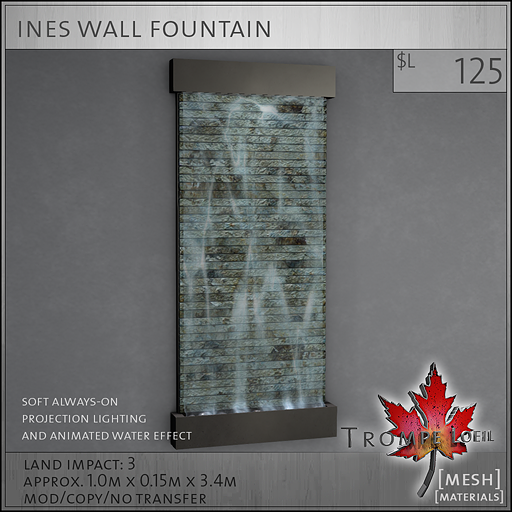 ines wall fountain L125