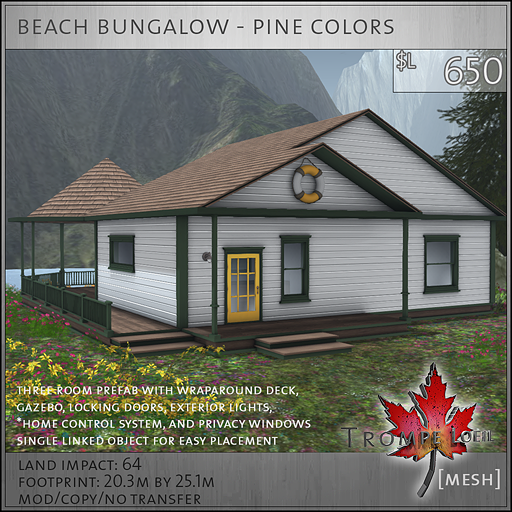 beach bungalow pine colors L650