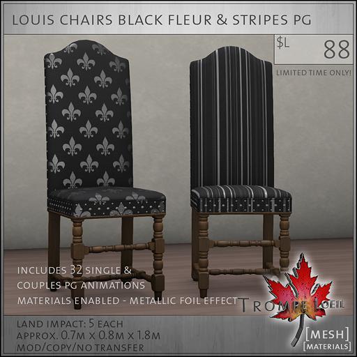 louis chairs black fleur PG L88
