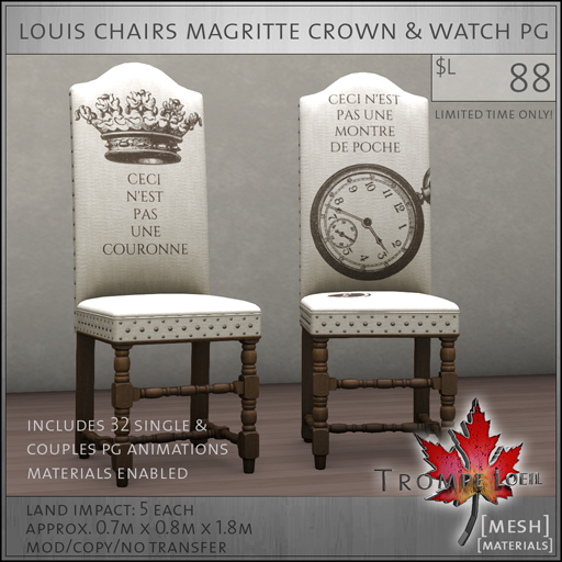 louis chairs magritte PG L88