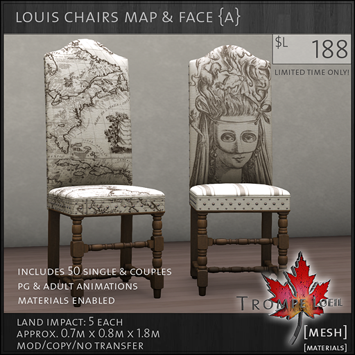louis chairs map face A L188