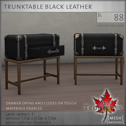 trunktable black L88