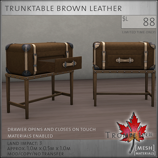 trunktable brown L88