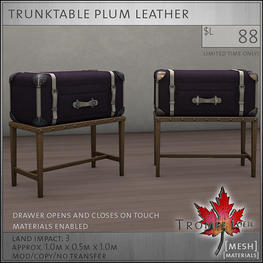 trunktable plum L88