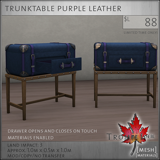 trunktable purple L88