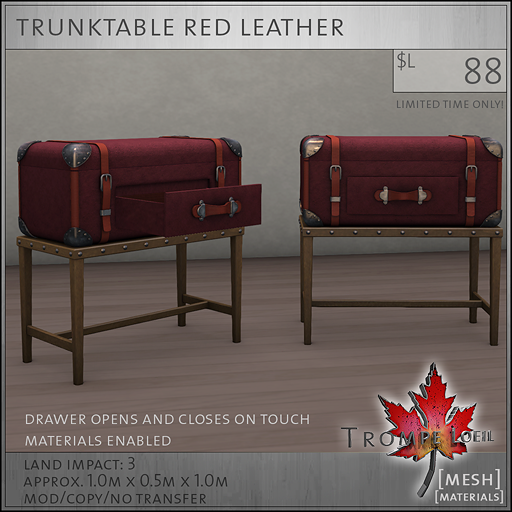 trunktable red L88