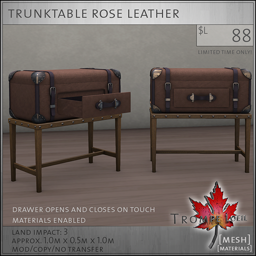 trunktable rose L88
