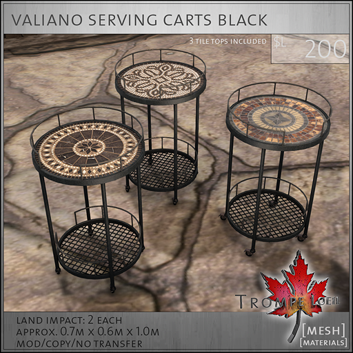 valiano carts black L250