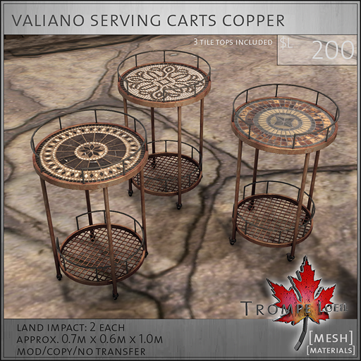 valiano carts copper L250