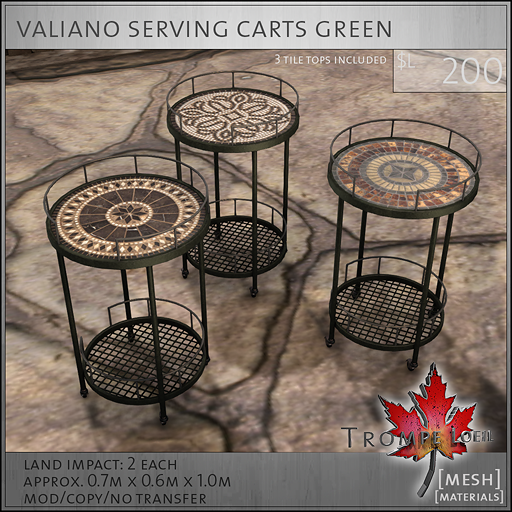 valiano carts green L250