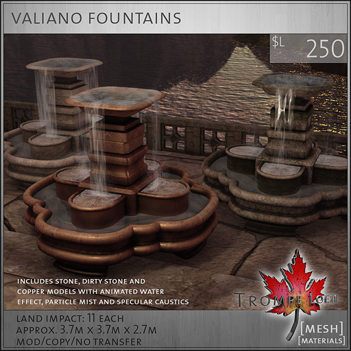 valiano fountains L250