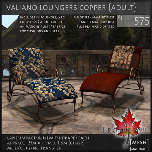 valiano loungers copper Adult L575