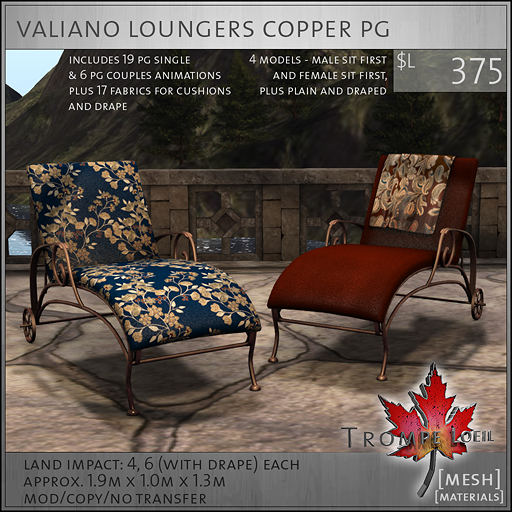 valiano loungers copper PG L375