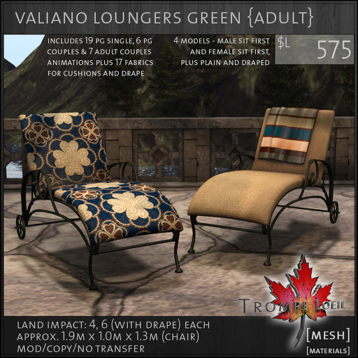 valiano loungers green Adult L575