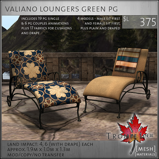 valiano loungers green PG L375