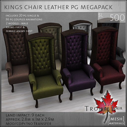 kings chair leather PG megapack L500