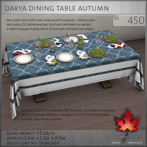Darya Dining Table Autumn L450