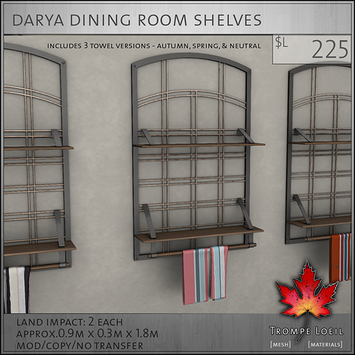 Darya Shelves L225