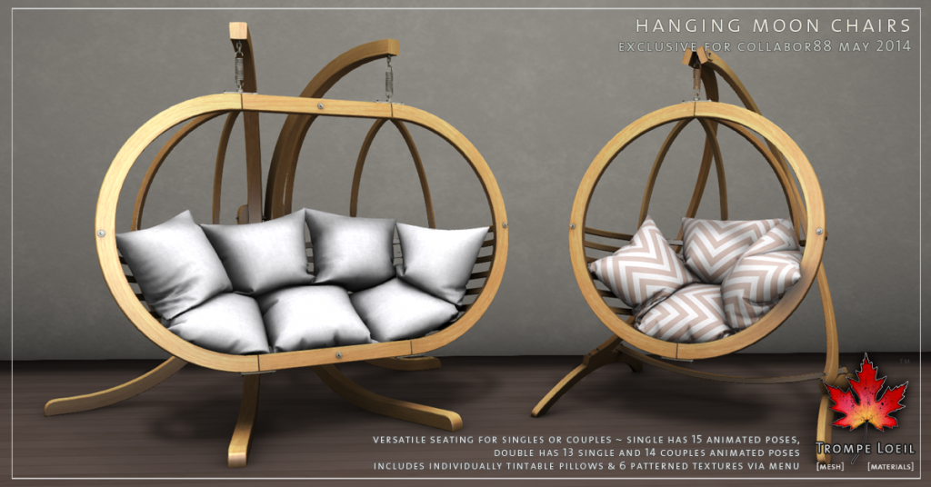 Trompe Loeil - Hanging Moon Chairs promo