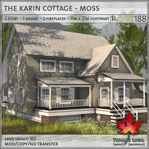 Trompe Loeil - Karin Cottage Moss L188