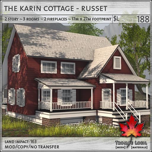 Trompe Loeil - Karin Cottage Russet L188