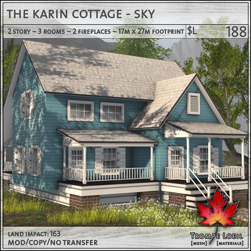 Trompe Loeil - Karin Cottage Sky L188