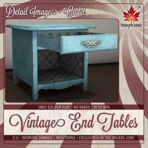 Trompe Loeil - Arcade June 2014 Vintage End Tables Detail square
