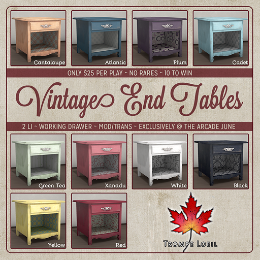 Trompe Loeil - Arcade June 2014 Vintage End Tables square 512