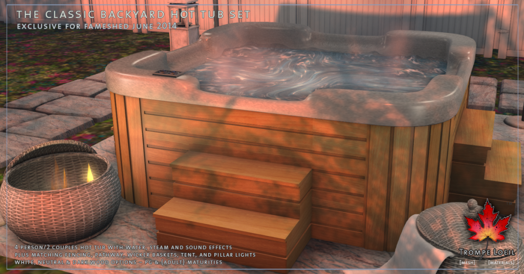 Trompe Loeil - Classic Backyard Hot Tub Set promo 02