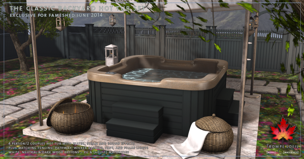 Trompe Loeil - Classic Backyard Hot Tub Set promo 03