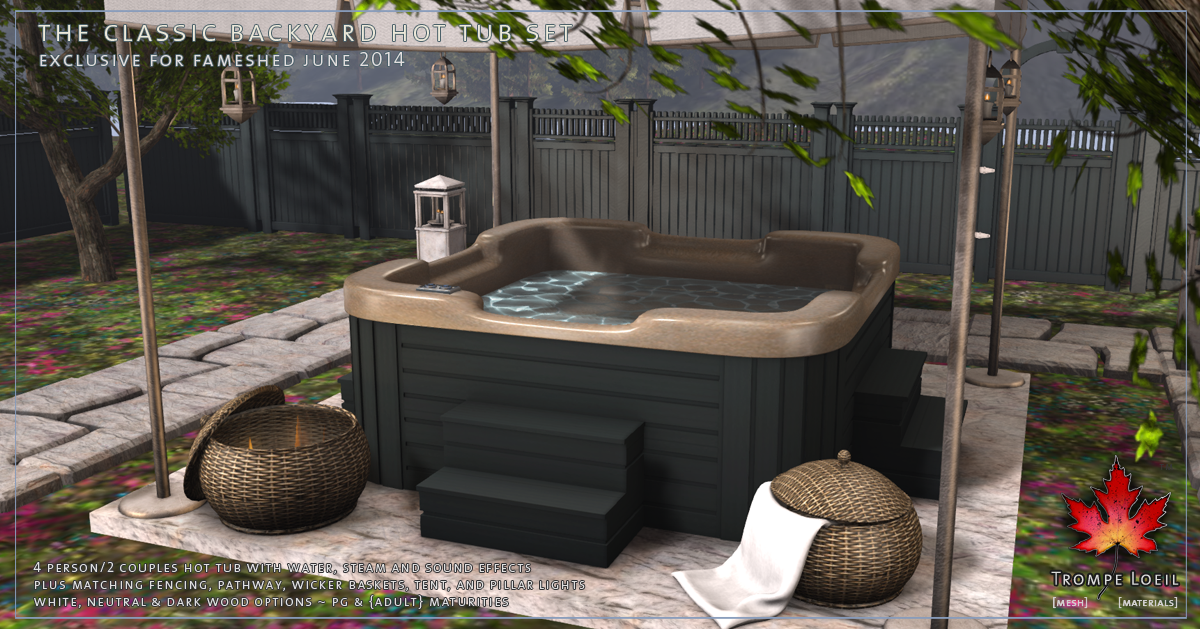 ... Trompe Loeil - Classic Backyard Hot Tub Set promo 03 ... - Classic Hot Tubs For FaMESHed And Vintage End Tables For Arcade