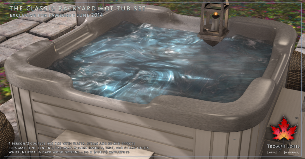 Trompe Loeil - Classic Backyard Hot Tub Set promo 04
