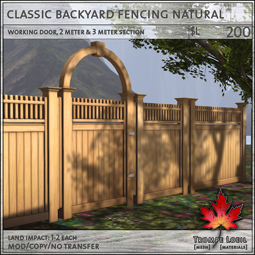 classic backyard fencing neutral L200
