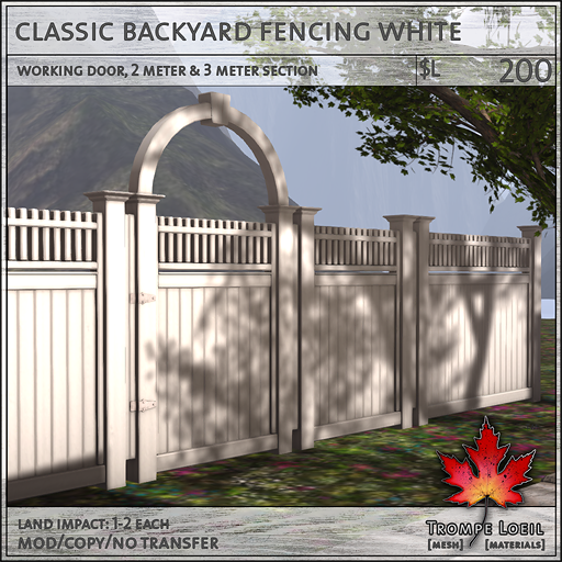 classic backyard fencing white L200
