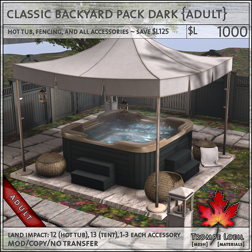 classic backyard pack dark Adult L1000