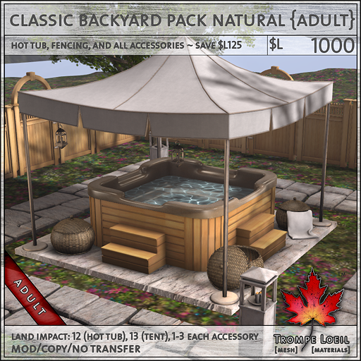 classic backyard pack natural Adult L1000