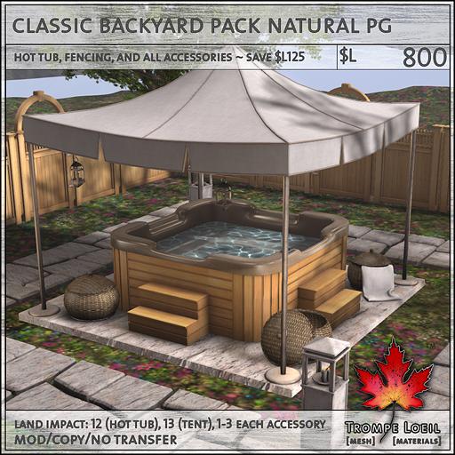 classic backyard pack natural PG L800