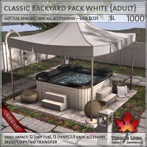 classic backyard pack white Adult L1000