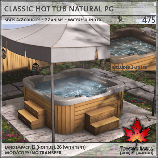 classic hot tub natural PG L475