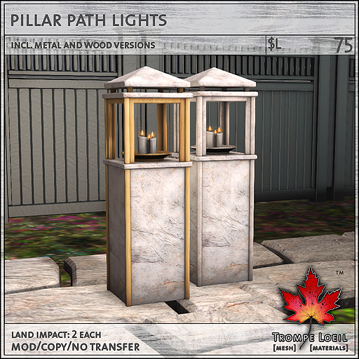 pillar path lights L75