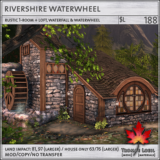Rivershire Waterwheel L188