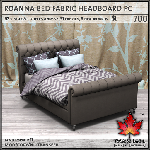 roanna bed fabric PG L700